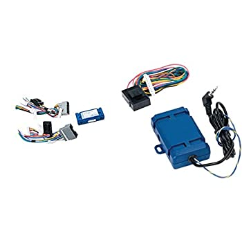 PAC C2R-CHY4 Radio Replacement Interface for Chrysler,Blue,8.75in x 9.00in x 2.00in & SWI-RC Steering Wheel Control Interface SWI-RC-1.