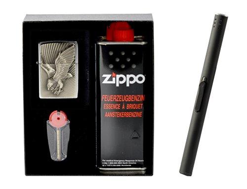Zippo Eagle Emblem 2013 im Geschenkset inkl. Stabfeuerzeug