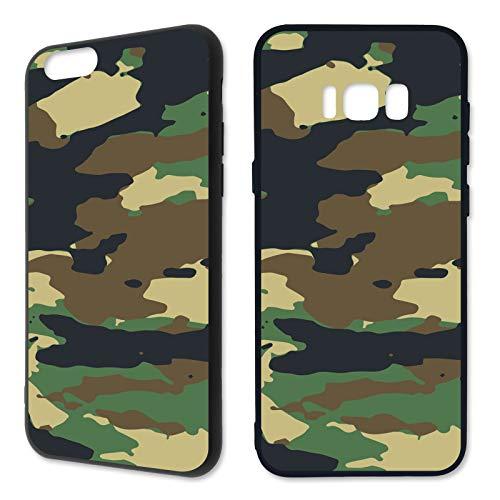 Premium Handyhülle Camouflage aus Silikon |Pastell Pink Army Tarnfarbe Camo Tarnung Grau Grün Braun, Kompatibel mit Handy:Samsung Galaxy S6 Edge, Hüllendesign:Design 3 | Silikon Schwarz