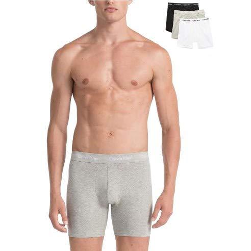 Calvin Klein 3 Pack Trunks - Cotton Stretch Intimo, Multicolore(Black/White/Grey Heather 998), M (Pacco da 3) Uomo