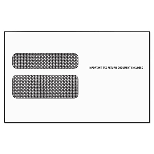 TOPS 2219LESR Double Window Tax Form Envelope/W2 Laser Forms,5 5/8 x 9 (Pack of 50)