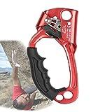 Dispositivo De Escalada,Bloqueadores De Escalada,Ascenso Ascensores De Escalada Montañismo Al Aire Libre para Escalada Rescate Espeleología Cuerda 8-12Mm,Red Left