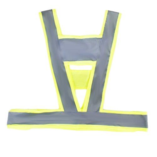 Sharplace Chaleco de Seguridad con Bandas Reflectantes Accesorio Deportivo Acuático Aire Libre...