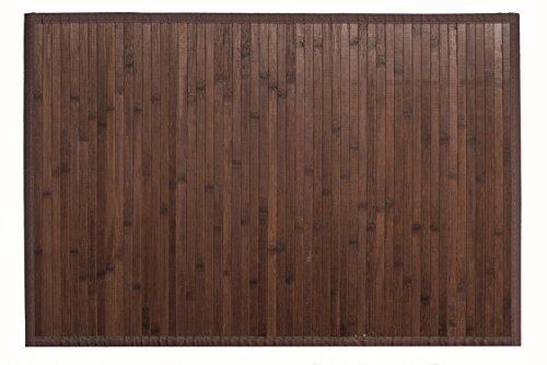 Clara Vidal Bertha Hogar - Alfombra Bambú Kanda, 140x200 cm, Nogal