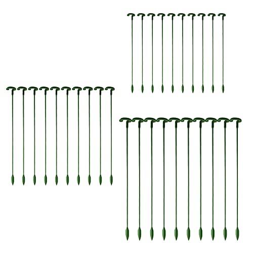 GRANDLIN 30 herramientas de soporte para escalar para plantar, soporte para jardín, soporte de vid de enrejado de jardín, marco de rejilla de planta para plantas de escalada de flores y vegetales