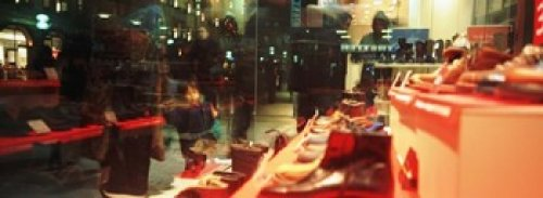 The Poster Corp Panoramic Images – Shoes displayed in a store window Munich Germany Photo Print (91,44 x 33,02 cm)