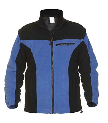 Hydrowear 04026013 F Kolding (Polar Veste en polaire, 100% polyester, grande taille, Bleu Royal/noir