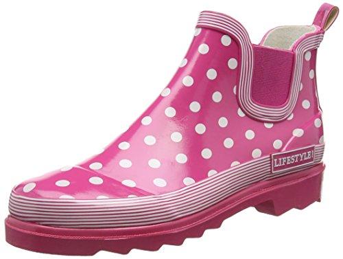 Beck Lifestyle Damen Gummistiefelette, Pink