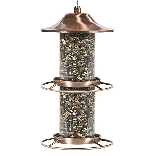 Perky-Pet 325C 2-Tier Copper Panorama Bird Feeder