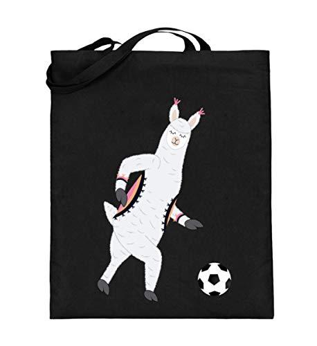 Chorchester Ideal für Fussball und Alpaka Fans - Jutebeutel (mit langen Henkeln) -38cm-42cm-Schwarz
