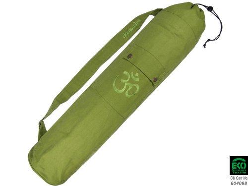 Chin Mudra Sac à Tapis de Yoga 100% Coton Bio 71cm X 15cm - Vert