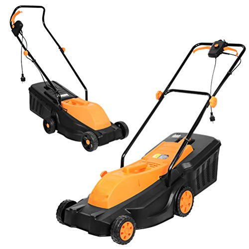 New Small Electric Grass Trimmer Hand Push,Mowing Width 32cm & 25-75mm Mowing Height Adjustable and ...