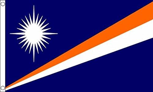 Flag Wholesaler Marshall Islands Flagge, Mehrfarbig, Large