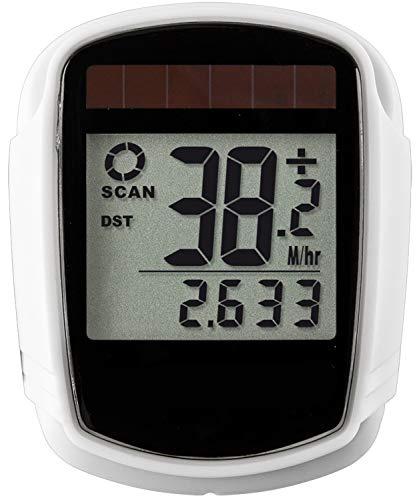 Zeit-Bar SOLAR-Bikecomputer mit 18 Funktionen, KABELLOS