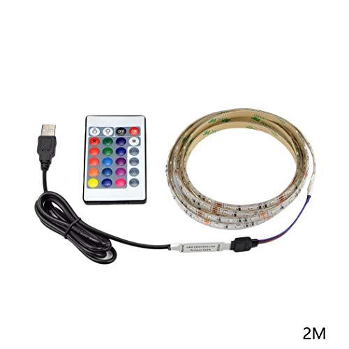 AIMADO USB LED Retroilluminazione TV RGB Strip Light con Telecomando a 24 Tasti Strisce LED