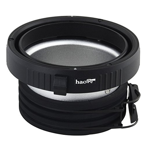 Haoge Profoto to Elinchrom Mount Speedring Ring Adapter Converter for Studio Light Strobe Flash Monolight