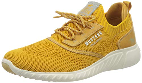 MUSTANG Shoes Halbschuhe in Übergrößen Gelb 1315-306-660 große Damenschuhe, Größe:45