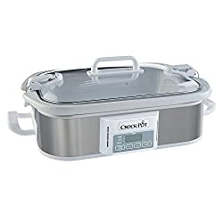 in budget affordable Crock Pot SCCPCCP350-SS Crock Slow Cooker Programmable Digital Pot, 3.5 liters, Stainless Steel