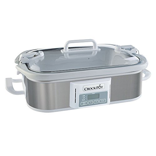 Crock-Pot SCCPCCP350-SS Programmable Digital Casserole Crock Slow Cooker, 3.5 quart, Stainless Steel