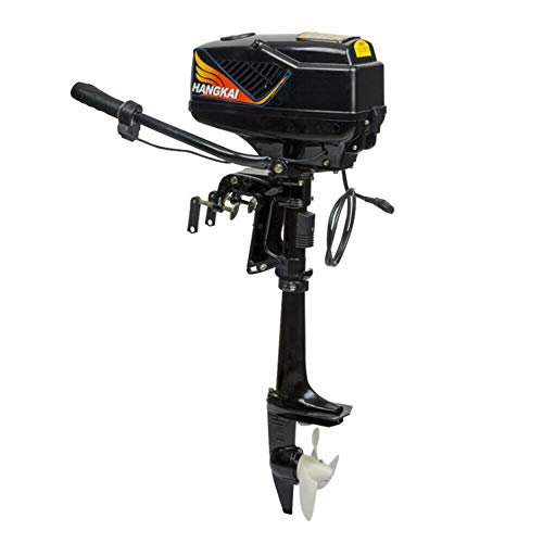 Buy HANGKAI Outboard Boat Motor Engine 4HP Brushless Electric Boat Outboard Motor 48V 1000W Thrust L...