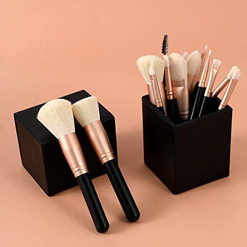 VIVID STELLA Pinselset Make Up Pinsel 15 Stück Champagner Gold Professional Cosmetic Tools...