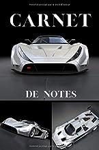 Carnet de notes: voiture de Sport argent   pour les passionnés d'automobiles, de vitesse et de course   format 15 x 23 cm ...