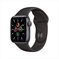 Apple Watch SE (GPS, 40mm) Smartwatch (Space Gray Aluminum Case with Black Sport Band)