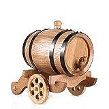 3L Roble Crianza en barrica de Madera de Barril Usado for almacenar o envejecimiento Whisky, Cerveza, Vino, Whisky Americano, Aguardiente, Salsa Picante, etc (Color : A, Size : 3L)