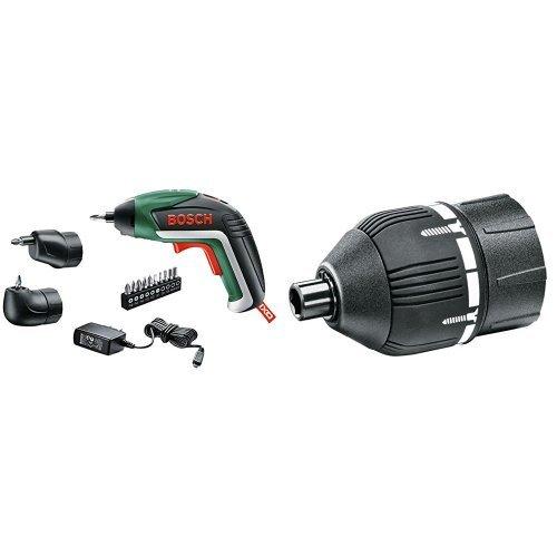 Bosch IXO V Set - Atornillador de batería de litio (5,4 W, 3,6 V) + 2 609 256 968 - Adaptador del par de apriete - Systemzubehör passend zu -Akku-Schrauber IXO III, IXO IV (pack de 1)