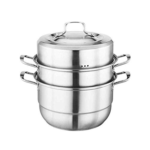 SHYPT Food Grade Stainless Steel 3-layer Steamer, Easy to Clean and Maintain, Suitable for all Induction Cookers