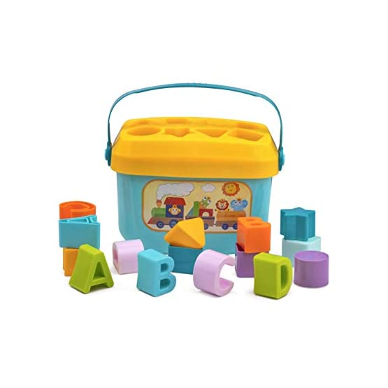 Playkidz Shape Sorter Baby and Toddler Toy, ABC and Shape Pieces, Sorting Shape Game, Developmental Toy for Children 18…