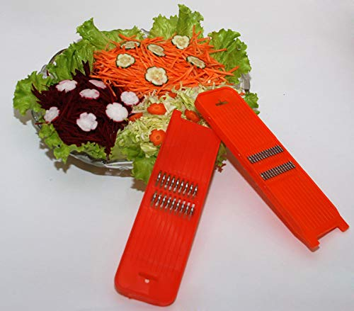 Rallador de zanahorias, ancho de corte de 1 mm.