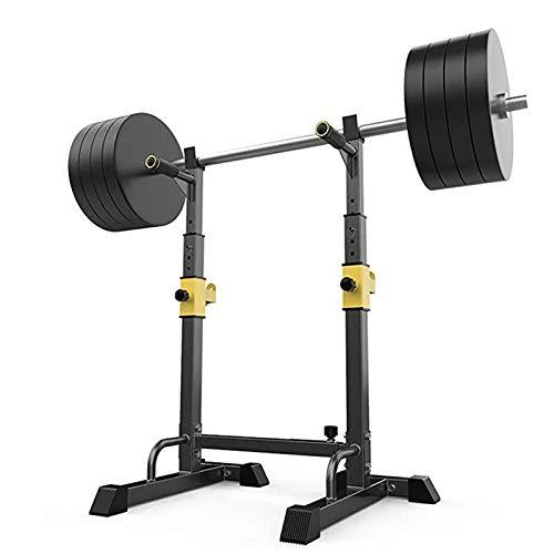 GJXJY Réglable Squat Rack Barbell Support Multifonction Chandelles Musculation Max 250 Kg Cage De Squat Domestique Haltérophilie Squat Equipment