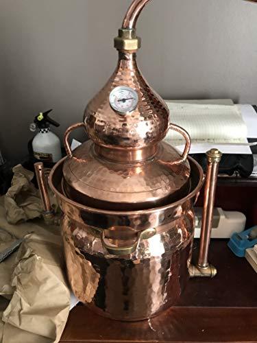 arterameeferro Distillatore Alambicco in Rame 10 Litri Modello bagnomaria