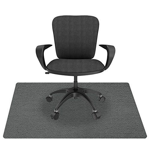 Lurowo - Alfombra de protección de suelo, alfombra para silla de oficina de PVC con diseño antideslizante, alfombra de suelo para suelos duros, laminado y azulejos, 90 x 120 cm (gris oscuro)