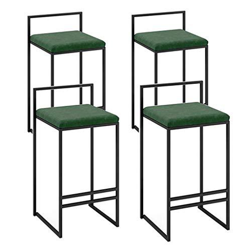 WGEMXC Stühle, Hochstühle, Barstühle, Hocker Barhocker Counter Esszimmerstuhl Küche Frühstück Back Kaffee Restaurant Height Hocker Black Metal Base,45 cm,45 cm