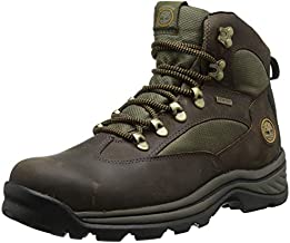 Timberland Men's Chocorua Trail Mid Waterproof, Brown/Green, 13 D - Medium