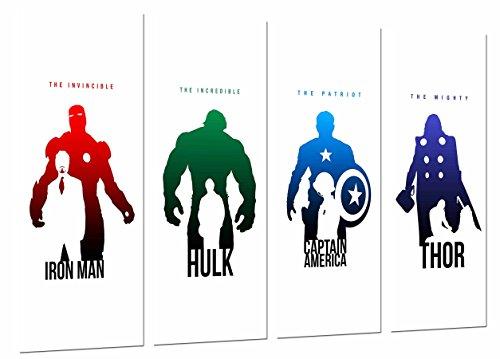 Cuadros Camara Fotográfico Iron Man, Hulk, Capitan America y Thor, Los Vengadores, The Avengers Tamaño total: 131 x 62 cm XXL