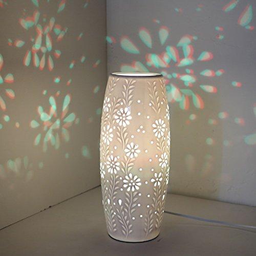 ZWL Télécommande nuit Chambre chevet Céramique Décoration Creative chevet Fun Lumière LED Lampe de bureau fashion.z (Couleur : D)