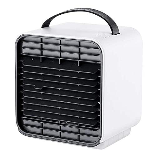 WULOVEMI Refrigerador de Aire, hogar portátil, pequeño acondicionador de Aire de Iones Negativos, purificador de Aire Ajustable de 3 velocidades Recargables USB para el hogar/Oficina/Viaje, Azul