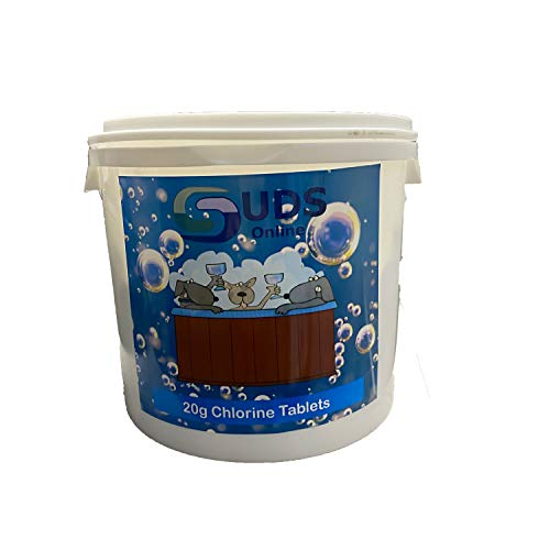 SUDS-ONLINE 5kg Chlorine Tablets 20g Hot Tub Spa Tubs