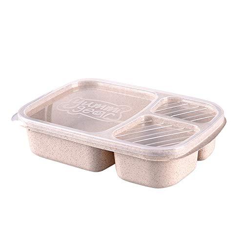 NEEKY Boîtes Alimentaires Compartiment, Boîte à bento Conteneur de Stockage de Nourriture, réutilisable pour Lunch Boîte, Boîtes de Pique-Nique Voyage