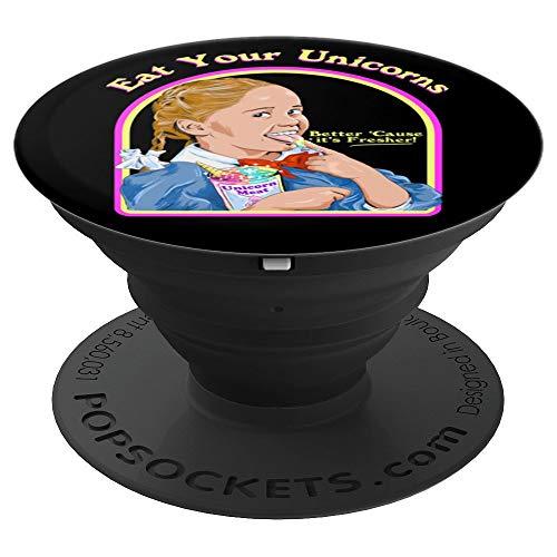 Come tus unicornios Carne de unicornio Divertido satánico PopSockets Agarre y Soporte para Teléfonos y Tabletas