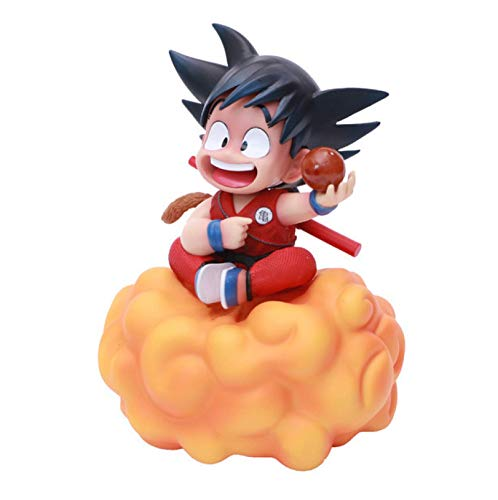 Anime Dragon Ball Z Son Goku Juguetes Lindos PVC Figura De Acción Niño Ver. Goku Sentado En Las Nubes Modelo Coleccionable Anime DBZ Figuras Juguete 18Cm