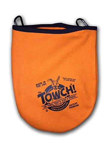 Towch Disc Golf Towel Pouch - 3 to 5 Disc Bag - Choice of 11 Colors - (Optical Orange)