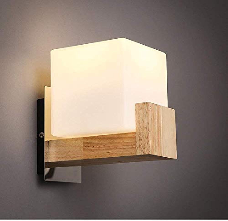 HhGold Corridor Lounge Nachttischlampe Wandleuchte Massivholz Wandleuchte Japanisch (Farbe   -, Gre   -)