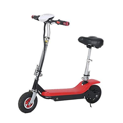AJAC Elektrische step met seat, licht en opvouwbaar, met lithium batterij en CD-display, 30 km, lange elektrische rembereik voor volwassenen en jongeren.