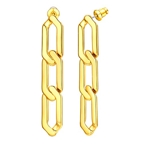 U7 Personalized Fun Chain Earrings Women Girls S925 Silver Needle Hypoallergenic Stainless...