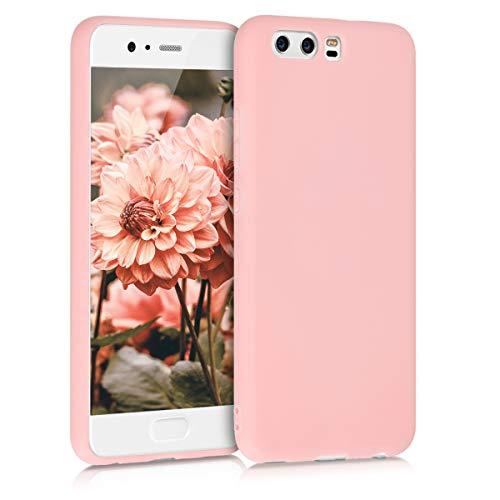 kwmobile Funda Compatible con Huawei P10 - Carcasa de TPU Silicona - Protector Trasero en Oro Rosa