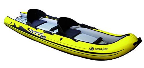 Sevylor Sit on Top Reef(TM) 300 - Bote Inflable, Kayak de Mar 2 Personas, Piragua Hinchable, 300 x 88 cm